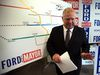 Mayoral candidate Doug Ford unveils his updated subway plan at his campaign office in Toronto, Ont. on Thursday, October 2, 2014. (Dave Abel/Toronto Sun)