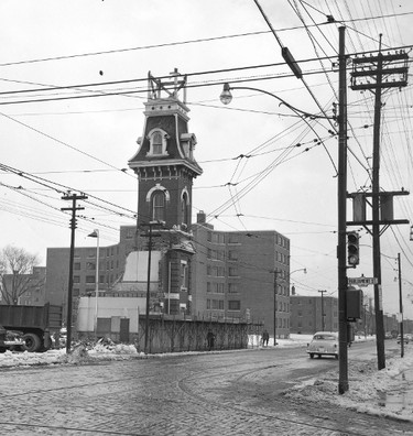 The original Police Station No. 4 and Fire Hall No. 7 combination was demolished in March 1956.