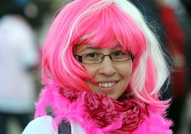 Pearl Yeung smiles during the CIBC Run for the Cure in Winnipeg, Man. Sunday October 05, 2014. Brian Donogh/Winnipeg Sun/QMI Agency