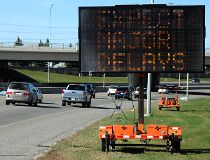 Glenmore Tr. road work delays