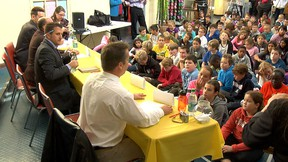 Grade 5 pupils from two London schools quizzed 10 mayoral candidates at the London Children's Museum on Monday.