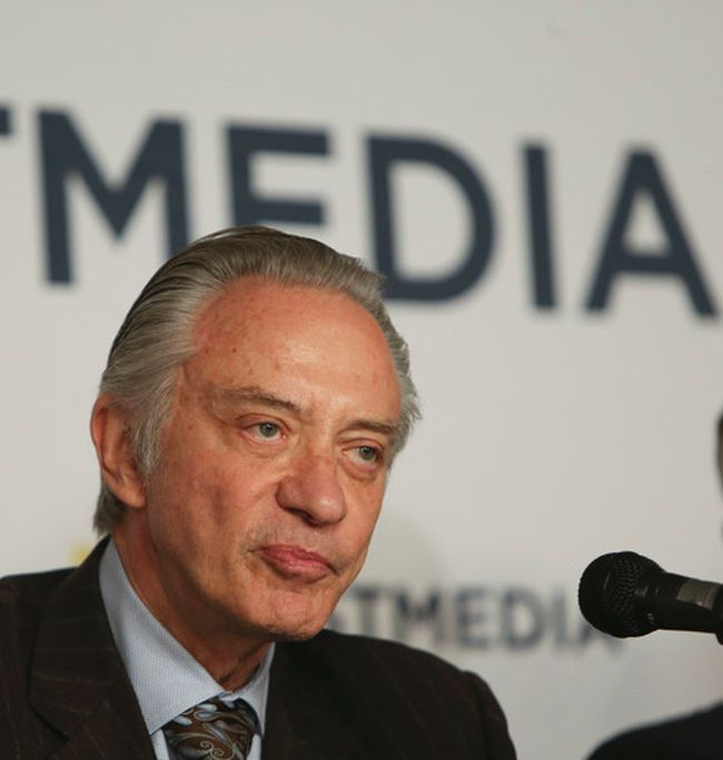 Paul Godfrey, Postmedia President and Chief Executive Officer a press conference was held at the National Post as Postmedia buys Sun Media for 316M  on Monday, Oct. 6, 2014. Veronica Henri/QMI Agency