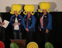 KEVIN RUSHWORTH HIGH RIVER TIMES/QMI AGENCY. The High River Hearts and Minds spelling bee team wore large wigs to the delight of the audience at the 2014 Grate Groan Up Spelling Bee.