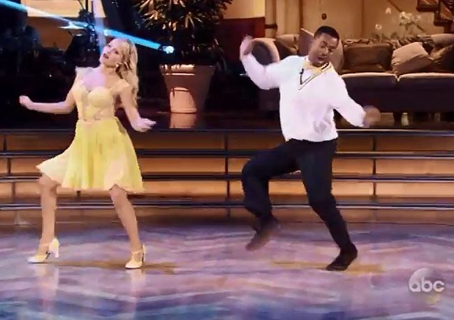 "Witney Carson and Alfonso Ribeiro on ""Dancing with the Stars."""