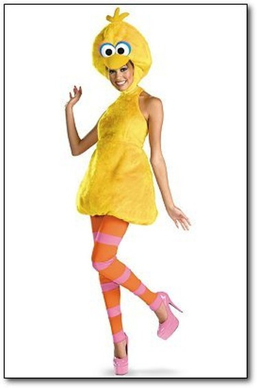 """Sexy Big Bird  Here's the thing Halloween costume connoisseurs: Don't try and sexualize parts of your childhood. It's just weird. The costume may look cute, but if you're trying to look sexy this upcoming Halloween, there are better ways of doing it than dressing up as a giant yellow bird known for teaching kids to spell. Plus, who wants to bring home an Oscar the Grouch for the night?   Courtesy    PDRTJS_settings_7868631 = { """"id"""" : """"7868631"""", """"unique_id"""" : """"default"""", """"title"""" : """""""", """"permalink"""" : """""""" }; (function(d,c,j){if(!document.getElementById(j)){var pd=d.createElement(c),s;pd.id=j;pd.src=('https:'==document.location.protocol)?'https://polldaddy.com/js/rating/rating.js':'http://i0.poll.fm/js/rating/rating.js';s=document.getElementsByTagName(c)[0];s.parentNode.insertBefore(pd,s);}}(document,'script','pd-rating-js'));"""