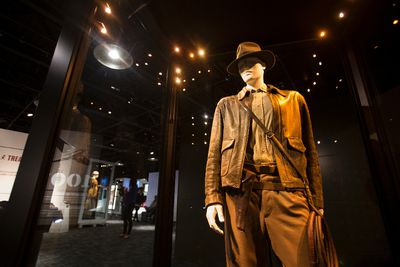 Indiana Jones' costume is seen during a media preview of Indiana Jones and the Adventure of Archaeology at Telus World of Science Edmonton in Edmonton, Alta., on Thursday, Oct. 9, 2014. The exhibition features archaeological artifacts and props from four of the George Lucas-Steven Spielberg films. The exhibition opens on Saturday, Oct. 11. Ian Kucerak/Edmonton Sun/ QMI Agency