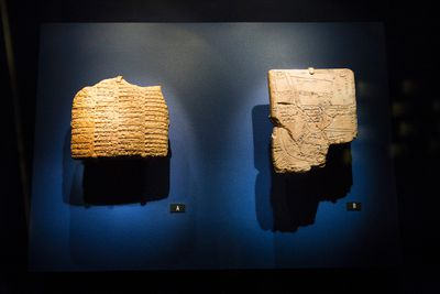 Ancient cuneiform tablets are seen during a media preview of Indiana Jones and the Adventure of Archaeology at Telus World of Science Edmonton in Edmonton, Alta., on Thursday, Oct. 9, 2014. The exhibition features archaeological artifacts and props from four of the George Lucas-Steven Spielberg films. The exhibition opens on Saturday, Oct. 11. Ian Kucerak/Edmonton Sun/ QMI Agency