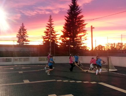 2014 Game On Ball Hockey League Ladies Open division action. BENJAMIN AUBÉ/The Daily Press