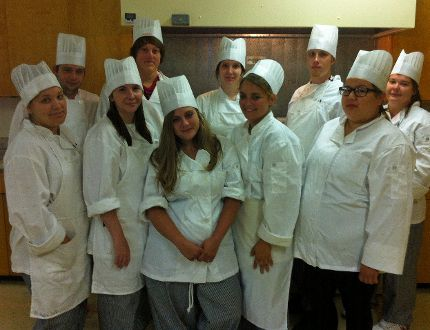 Members of the last Kitchen Helper Program offered by the Eastern Ontario Training Board. The EOTB