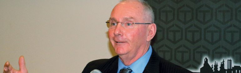 Timmins Mayor Tom Laughren presented his final State of the City address to the Chamber of Commerce this week, saying that although the city has had a mild economic downturn in the past year, he is confident mining and forestry will sustain the city for many years in the future.