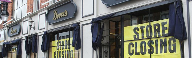 Dover's Men's Wear on Princess Street will be closing at the end of January. The closure is blamed on changing shopping habits, ongoing downtown street construction, high rent and parking issues. (Michael Lea/The Whig-Standard)