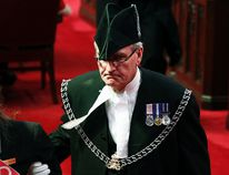 Sergeant-at-Arms Kevin Vickers is pictured in the Senate chamber on Parliament Hill in Ottawa in this file photo from June 3, 2011. According to Veterans Affairs Minister Julian Fantino, Vickers shot dead one of the suspects in the Oct. 22, 2014 shooting incident on Parliament Hill. (Reuters)