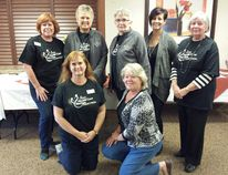 Trillium Court hosted the 13th Annual CKNX Health Care Heroes Radiothon on Oct. 18, 2014, raising $2046 for the Kincardine Hospital Foundation. Back L-R: Lesley MacGregor, Dianne MacArthur, Mary Hall Jennifer Cook, and Lois Hackett. Front L-R: Maureen Ross and Terri Schuler. (LISA UMHOLTZ/KINCARDINE NEWS)