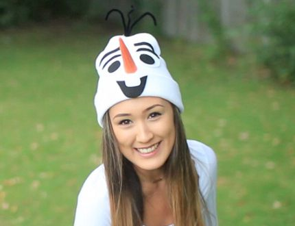 Capture the magic of Frozen's Olaf in a costume, thanks to LaurDIY. (PHOTO LAURDIY).