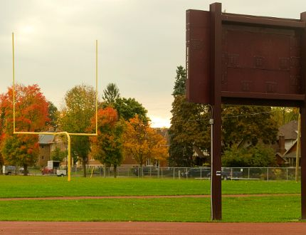 South secondary's James A. Giffen Memorial Field will see better days. (Free Press file photo)