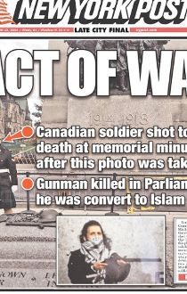 Ottawa shooting: Newspaper front pages from around the world_9