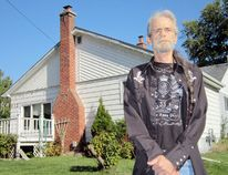 Steve Lafave of Port Dover says recent construction on St. Andrew Street has caused considerable damage to his home. (MONTE SONNENBERG Simcoe Reformer)