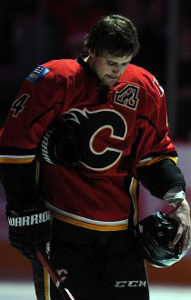 Kris Russell Flames Tribute Oct  23 2014