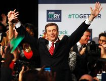 John Tory celebrates his victory in the Toronto mayoral election, Oct. 27, 2014. (CRAIG ROBERTSON/QMI Agency)
