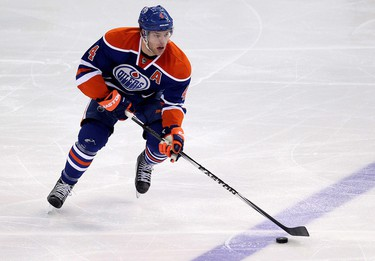 The Edmonton Oilers' Taylor Hall (4) during third period NHL action against the Montreal Canadiens at Rexall Place, in Edmonton Alta., on Monday Oct. 27, 2014. The Oilers won 3-0. David Bloom/Edmonton Sun/QMI Agency