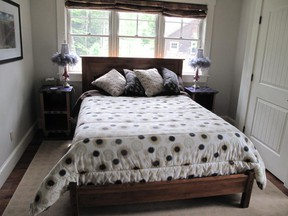 Make comfort and orderliness your guide for bedroom choices.