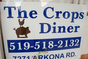 The newest owner of Crops Diner came up with the distinctive chicken and pig logo. Janet Cogswell began her career in the food service industry as a roller skate waitress at the old A&W Restaurant in Sarnia.