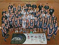 The Oxford Attack basketball club, seen here with club players from last year, have continued to grow as they reach eight teams with the possibility of adding two more for the coming Ontario Basketball Association season. The Attack also saw the Woodstock Chill fall under their umbrella to have just one OBA club in the County and have already applied to Basketball Ontario to bring the first sanctioned OBA tournament to Woodstock in the spring of 2015. (Submitted photo)