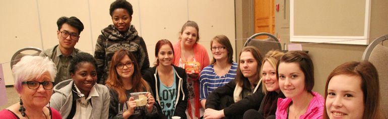 Lambton College students show some of the meagre fare they were given as they participated in a World of 100 game at the college's event centre Wednesday. The game, showing wealth disparity between countries, was the kickoff event for the college's inaugural Global Citizenship Summit. TYLER KULA/ THE OBSERVER/ QMI AGENCY