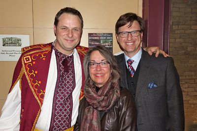 Jim Dudych, Debbie Nytepchuk and George Nytepchuk at The Brotherhood Concert Series October 4, 2014
