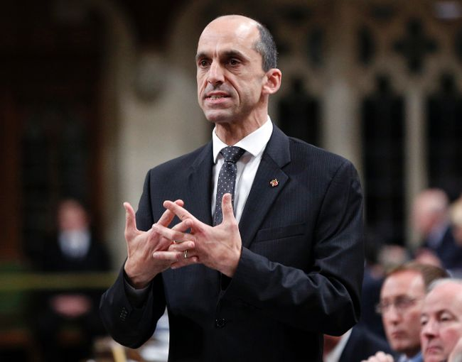 Minister of Public Safety Steven Blaney speaks during Question Period on Parliament Hill in Ottawa October 27, 2014. (REUTERS/Blair Gable)