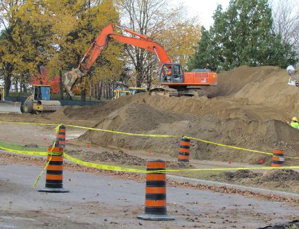 London-based Bre-Ex Construction has begun work on a $2.5-million contract designed to allow a closed section of Sarnia's Centennial Park to reopen in the spring. Sections of the park were closed in 2013 after soil tests turned up asbestos, lead and hydrocarbons. City officials say the work is ahead of schedule. (PAUL MORDEN, The Observer)