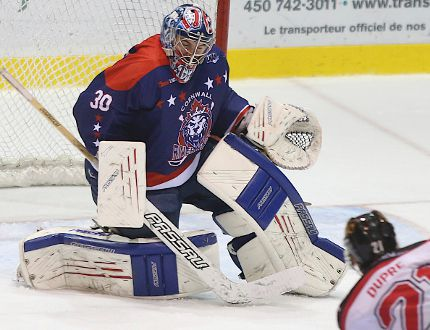 <p>Allison Papineau/Special to the Cornwall Standard-Freeholder/QMI Agency</p><p>Goalie Loic Lacasse, in his third season with the River Kings, will likely see plenty of action this weekend, with Cornwall at Thetford Mines on Friday, Oct. 31 and at home Saturday, Nov. 1 to face St-Georges.