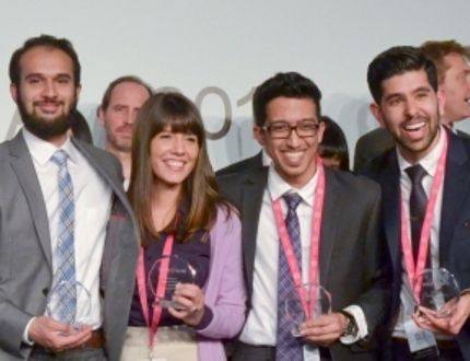 Pictured are members of the York University team that competed for the Hult Prize. From left to right: Luca De Blasis, Abbas Khambati, Danica Stanojevic, Hemanth Soni and Dhaman Rakhra. (Supplied Photo)