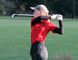Submitted photo Timmins golfer Sydney Lia, now a member of Team Canada ahead of the Aaron Baddeley International Junior Golf Championship in Guangdong, China on Nov. 14, takes a swing at the CJGA Ontario Fall Series Finale at Bond Head where she finished second for the third consecutive event to end her 2014 campaign.