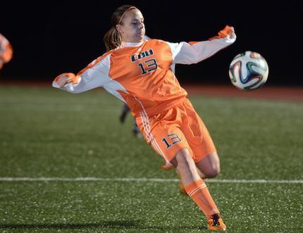 Sudbury native Karolyne Blain, a fourth-year striker with the Cape Breton University Capers women's soccer team, won he second straight AUS MVP award Thursday.