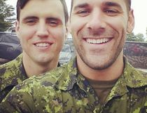 Cpl. Nathan Cirillo (right) and Cpl. Brendan Stevenson (Instagram photo)