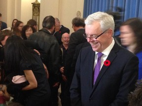 Premier Greg Selinger was forced to shuffle his cabinet Monday after five senior ministers resigned, citing a lack of confidence in his leadership. (DAVID LARKINS/WINNIPEG SUN/QMI AGENCY)