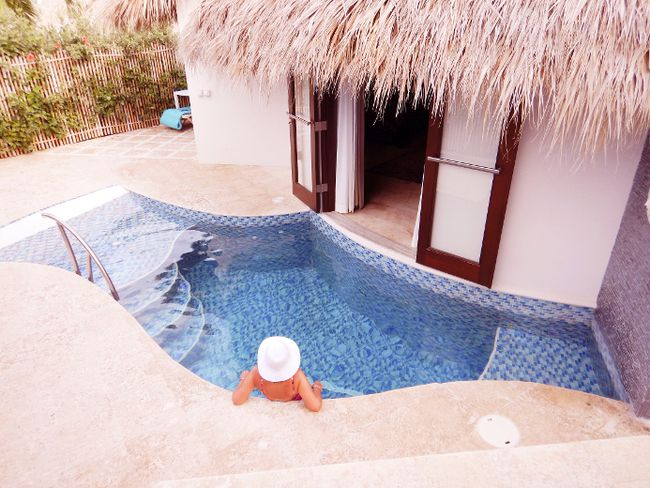 Many of the rooms, suites and villas at Sandals LaSource Resort in Grenada have private plunge pools. STEVE MacNAULL/SPECIAL TO QMI AGENCY