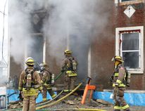 JOHN LAPPA/THE SUDBURY STAR In this file phot, firefighters battle a house fire on Alder Street in Sudbury.