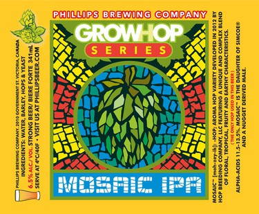 """GrowHop series, Phillips Brewing Company, B.C.Puns reign supreme in beer nomenclature—and most of them are terrible (witness: Hops & Robbers, Island Hopper, Russell IP'eh!), but Phillips' GrowHop series is a cheeky salute to B.C.'s love of both kinds of resiny bud. Each beer in the series (available in 12-pack """"hopboxes"""") is made with a different single hop variety. Suggested pairing: Munchies."""