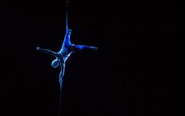 Photos of the week - An acrobat performs during the opening ceremonies of the Canadian Finals Rodeo at Rexall Place, in Edmonton Alta., on Wednesday Nov. 5, 2014. David Bloom/Edmonton Sun/QMI Agency