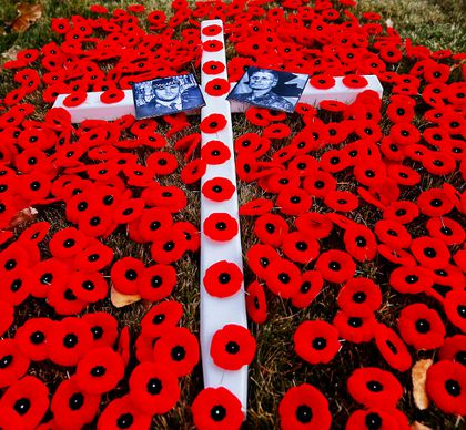 Canadians Paying Their Respects Country Wide As Poppies