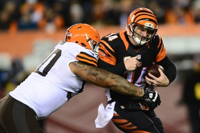 Bengals QB Andy Dalton had one of the worst games in NFL history on Thursday night. (USA TODAY SPORTS)