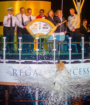 The original cast of the Love Boat TV series christened the Regal Princess at Port Everglades for its maiden Bahamas voyage. (Handout)