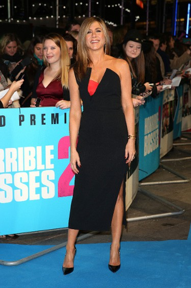 Jennifer Aniston on the red carpet for the 'Horrible Bosses 2' film premiere in London, England, November 12, 2014. (Lia Toby/WENN.COM)