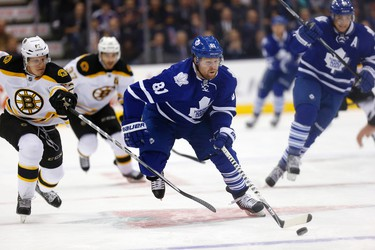 Toronto Maple Leafs' Phil Kessel blows by the Bruins during a game at the Air Canada Centre in Toronto on Wednesday November 12, 2014. Craig Robertson/Toronto Sun/QMI Agency