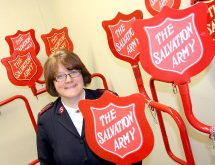 Shown is Capt. Stephanie Watkinson of the Salvation Army of Chatham-Kent, which has set a $450