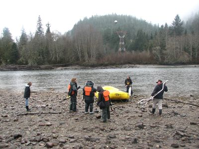 A raft is prepared for a Bald Eagle Viewing Tour from Sunwolf resort in Brackendale, B.C. JANE STEVENSON/QMI AGENCY
