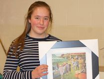 The Ripley-Huron 4H Awards took place on Nov. 21, 2014 at the Ripley-Huron Community School. Above: Claire Coenen won the 24 Award. Absent: Ashley McConnell. (LISA UMHOLTZ/KINCARDINE NEWS)