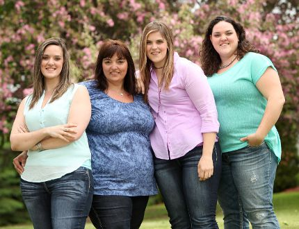 <p>Farm and Food Care Ontario photo/Used with permission</p><p>Egg farmers from the Fournier area, just north of North Stormont Township, are featured in the the Faces of Farming calendar for April 2015. From left, Lynn, Jessica, Véronique, and Valérie Longtin at the family farm earlier this year.